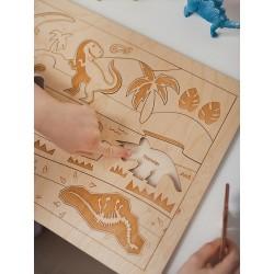 Stuka Puka Puzzle en Bois le Monde Perdu des Dinosaures