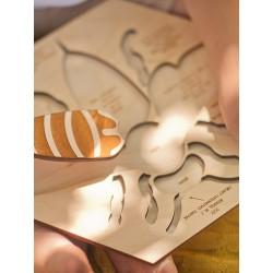 Stuka Puka Puzzle en Bois L'anatomie de l'abeille