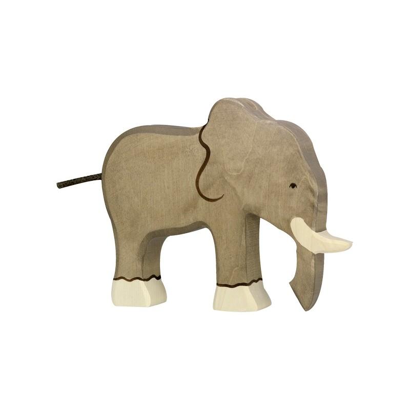 Holztiger Elephant trompe en Bas en Bois chez Jeux-Jouet-Bois