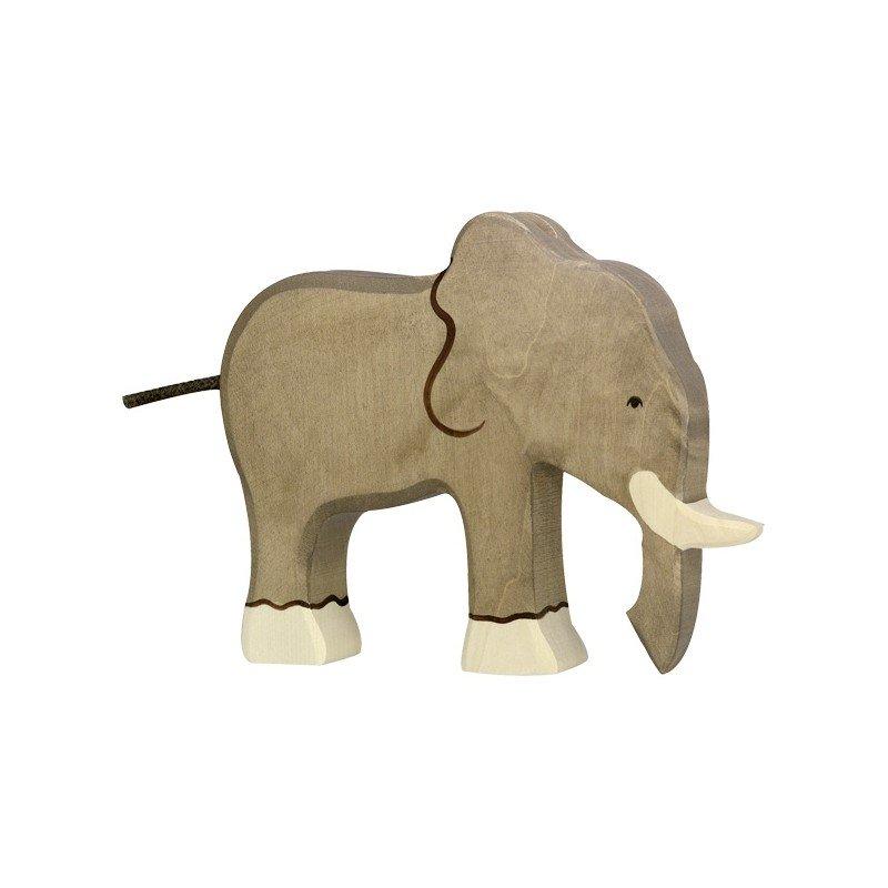 Holztiger Elephant trompe en Bas en Bois