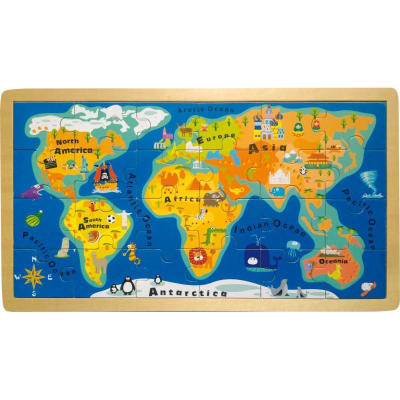Legler Carte du Monde en Anglais
