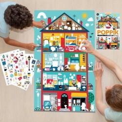 Poppik Poster sur la maison 100 Stickers chez jeux-Jouets-Bois