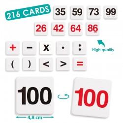 Akros Kit de calcul 216 fiches chiffres et Nombres