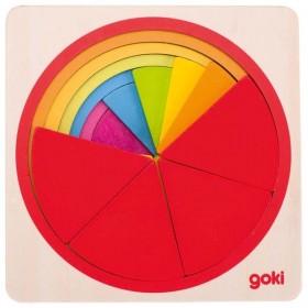 Goki Puzzle Cercle en Bois...
